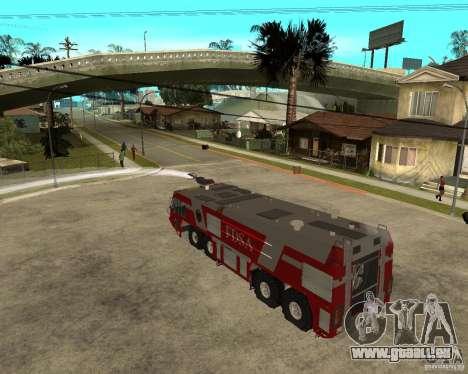 Rosenbauer Simba 8x8 GFLF FDSA pour GTA San Andreas vue intérieure