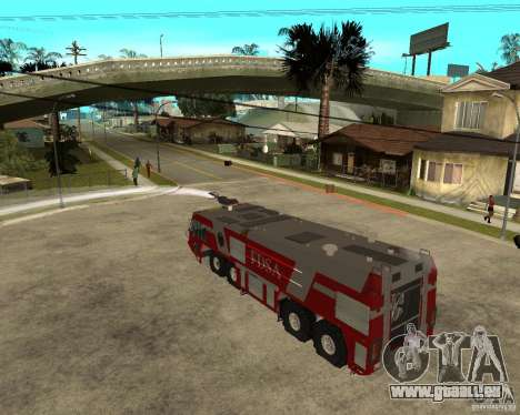Rosenbauer Simba 8x8 GFLF FDSA für GTA San Andreas Innenansicht