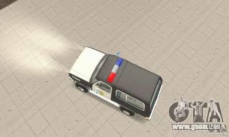 Chevrolet Blazer Sheriff Edition pour GTA San Andreas vue de droite
