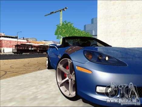 Chevrolet Corvette Grand Sport Cabrio 2010 pour GTA San Andreas vue intérieure