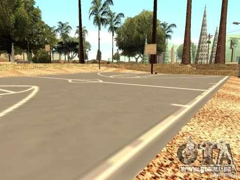Le nouveau terrain de basket à Los Santos pour GTA San Andreas troisième écran