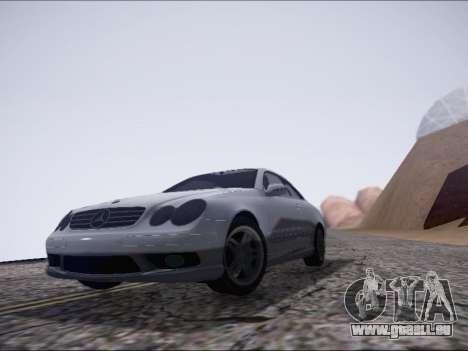 Mercedes-Benz CLK pour GTA San Andreas laissé vue