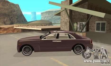 Rolls-Royce Ghost 2010 pour GTA San Andreas laissé vue