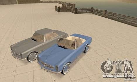 Mercedes-Benz 280SL (glänzend) für GTA San Andreas Seitenansicht