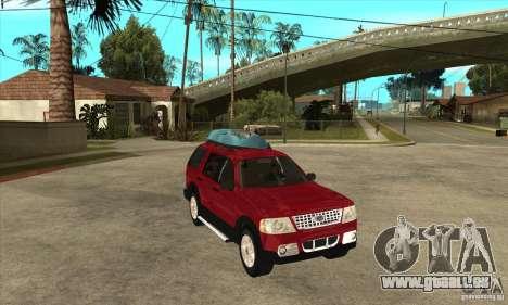 Ford Explorer 2004 für GTA San Andreas Rückansicht