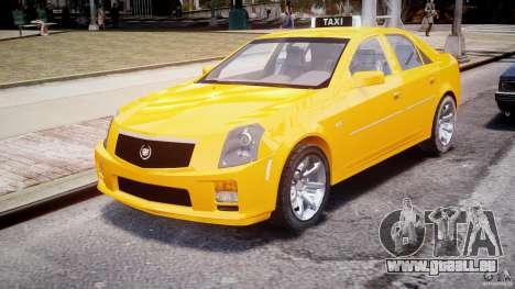 Cadillac CTS Taxi pour GTA 4 Vue arrière