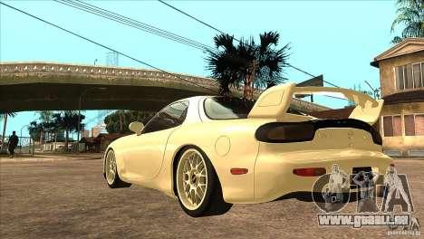 Mazda RX7 FD3S Type-R Bathurst pour GTA San Andreas sur la vue arrière gauche