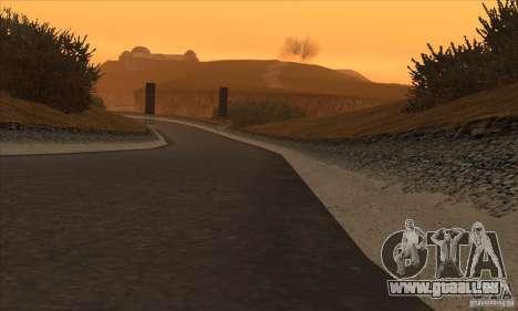 La route de NFS Prostreet pour GTA San Andreas quatrième écran
