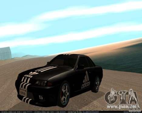 Nissan Skyline R32 GT-R + 3 vinyl für GTA San Andreas linke Ansicht