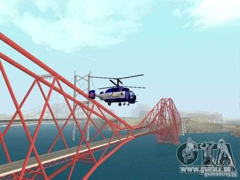Ka-27 pour GTA San Andreas sur la vue arrière gauche