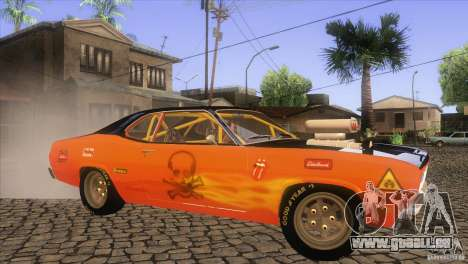 Plymouth Duster 440 für GTA San Andreas obere Ansicht