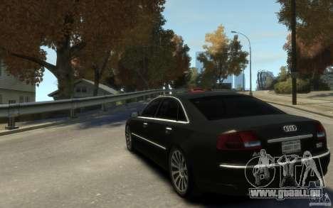 Audi A8 L 6.0 Quattro (Transporter 3) für GTA 4 Rückansicht