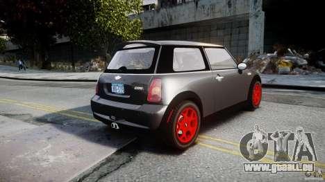 Mini Cooper S pour GTA 4 Vue arrière de la gauche