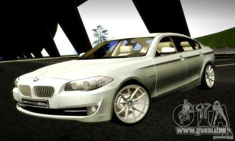 BMW 550i F10 pour GTA San Andreas laissé vue