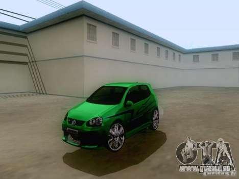 Volkswagen Golf V GTI für GTA San Andreas zurück linke Ansicht