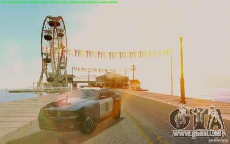 Ford Shelby Mustang GT500 Civilians Cop Cars pour GTA San Andreas vue arrière