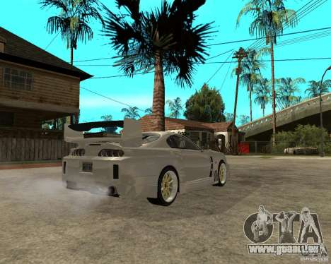 Toyota Supra M4K pour GTA San Andreas sur la vue arrière gauche