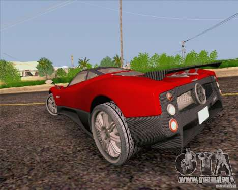 Pagani Zonda F v2 für GTA San Andreas zurück linke Ansicht
