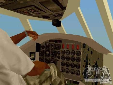 B-58 Hustler für GTA San Andreas Innenansicht