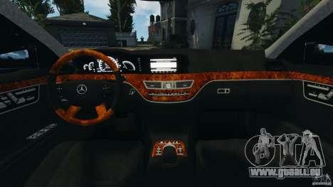 Mercedes-Benz S W221 Wald Black Bison Edition für GTA 4 Rückansicht