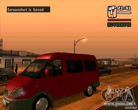 GAZ 22171 Sable für GTA San Andreas zurück linke Ansicht