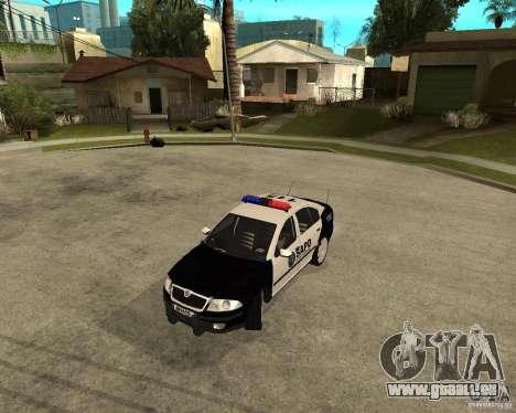 Skoda Octavia II 2005 SAPD POLICE pour GTA San Andreas laissé vue