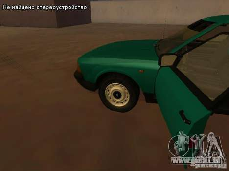 Moskvich 2141 pour GTA San Andreas vue de dessus