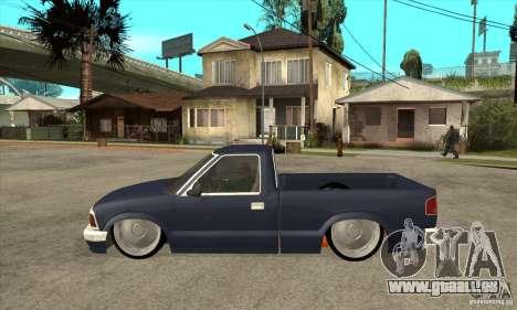 Chevrolet S-10 1996 Draggin pour GTA San Andreas laissé vue