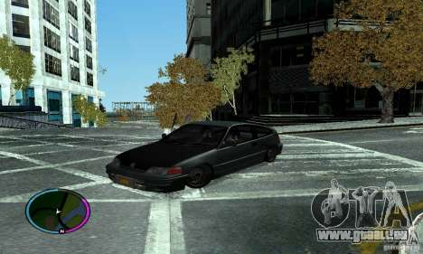 Honda CRX Tuned für GTA San Andreas zurück linke Ansicht
