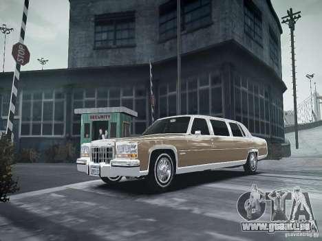 Cadillac Fleetwood 1985 für GTA 4 Rückansicht