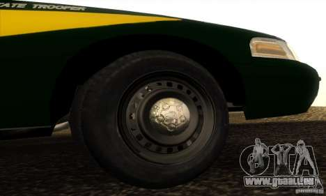 Ford Crown Victoria Indiana Police pour GTA San Andreas vue de droite