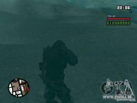 Stalker militaire en èkzoskelete pour GTA San Andreas quatrième écran