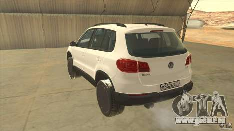 Volkswagen Tiguan 2012 v2.0 pour GTA San Andreas sur la vue arrière gauche