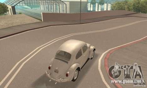 Volkswagen Beetle 1963 pour GTA San Andreas vue intérieure