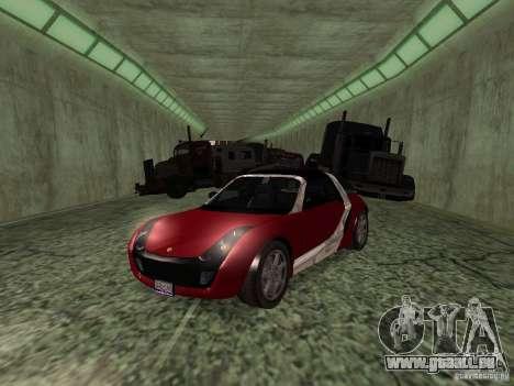 Smart Roadster Coupe für GTA San Andreas Rückansicht
