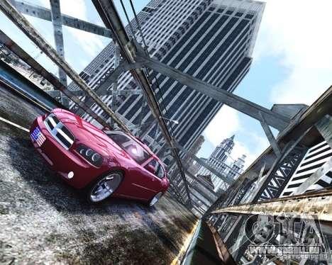 Dodge Charger RT 2006 für GTA 4 Rückansicht