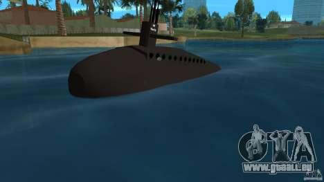 Vice City Submarine without face für GTA Vice City