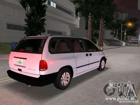 Dodge Grand Caravan pour GTA Vice City sur la vue arrière gauche