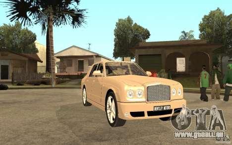 Bentley Arnage für GTA San Andreas Rückansicht