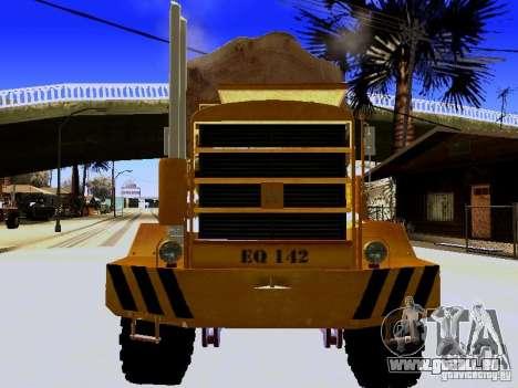 Hayes EQ 142 pour GTA San Andreas vue intérieure