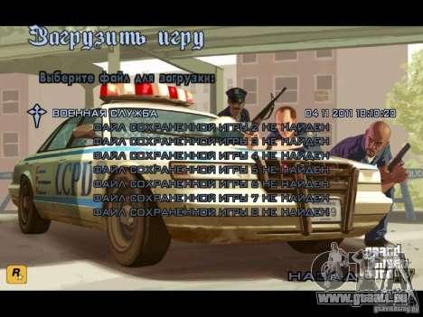 Menu comme dans GTA IV pour GTA San Andreas quatrième écran