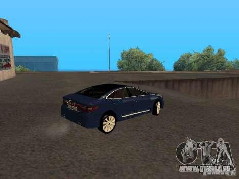Hyundai Azera 2012 pour GTA San Andreas vue de droite