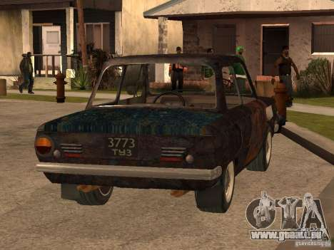 ZAZ-968 abandonné pour GTA San Andreas laissé vue