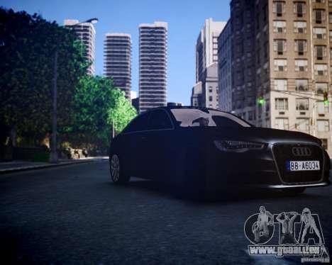 Audi A6 2012 für GTA 4 hinten links Ansicht