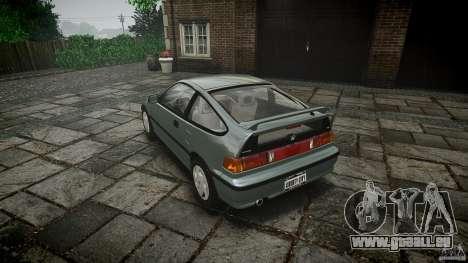 Honda CRX 1991 für GTA 4 hinten links Ansicht