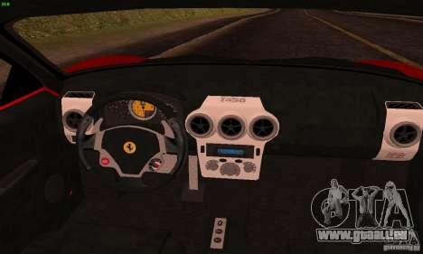 Ferrari F430 v2.0 pour GTA San Andreas vue intérieure