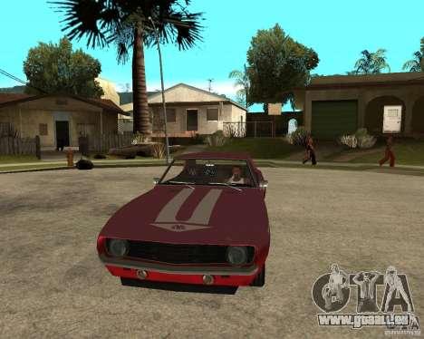 1969 Yenko Chevrolet Camaro pour GTA San Andreas vue arrière