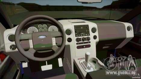 Ford Lobo Lariat Ecoboost 2013 pour GTA San Andreas vue arrière