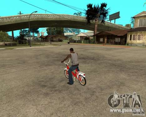 Tair GTA SA moto Moto pour GTA San Andreas laissé vue