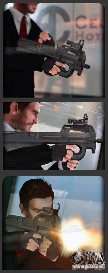 FN P90 pour GTA 4 quatrième écran